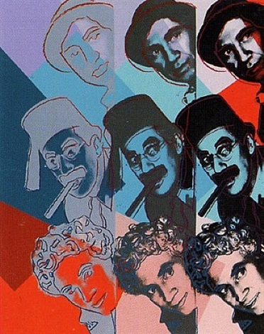 ten portraits of jews of the twentieth century - the marx brothers [ii.232] by andy warhol